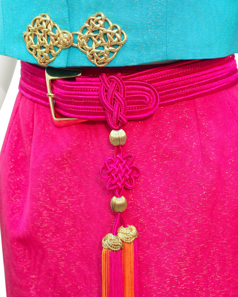 Blue & pink moroccan ensemble