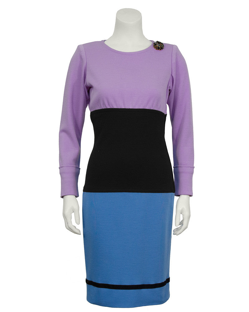 Colorblock Day Dress