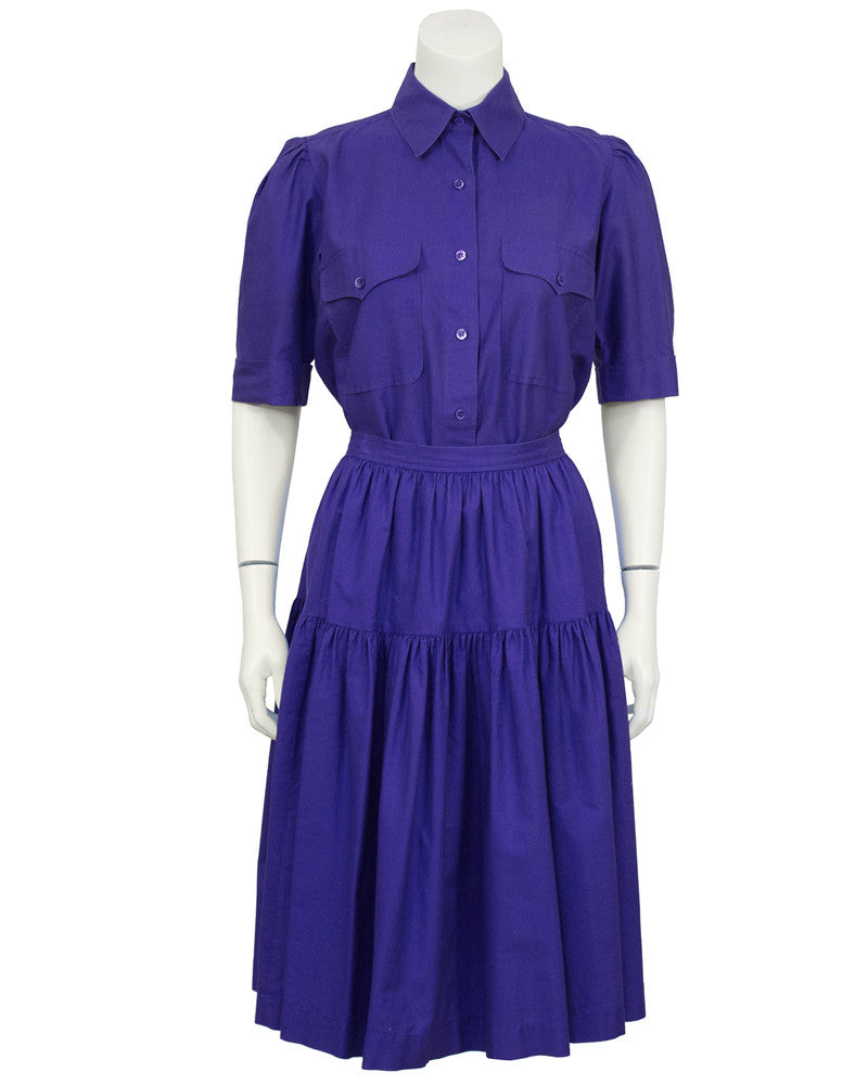 Purple Cotton Skirt Ensemble