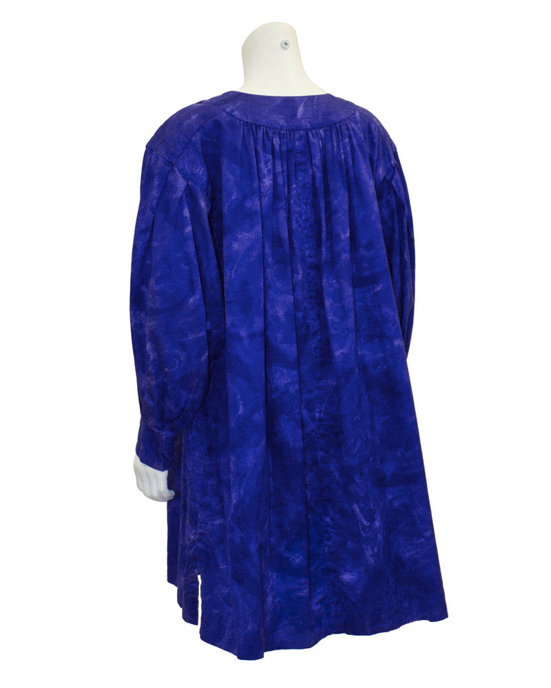 Blue Dip Dyed Smock Dress