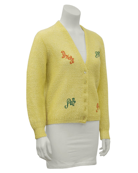 Novelty Golf Cardigan Made For Saks 5th Ave.