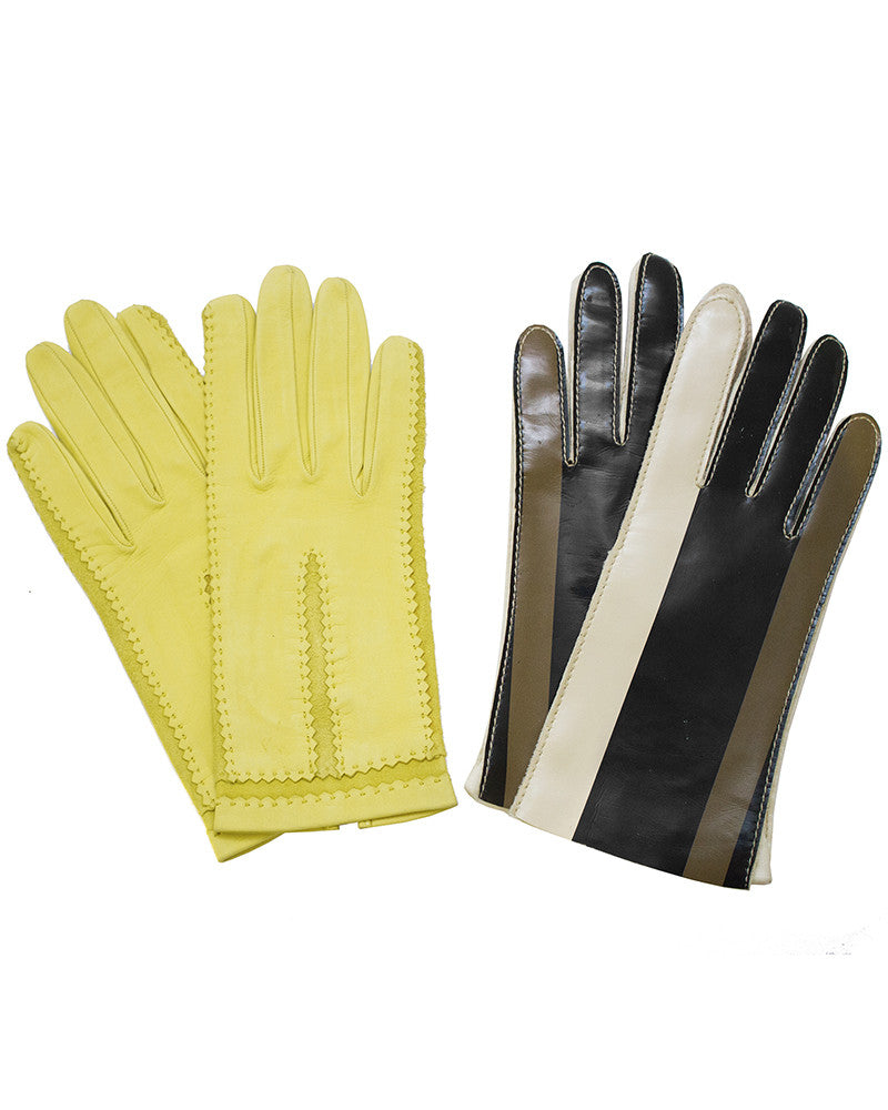 Pairing Of Leather And Vinyl Gloves