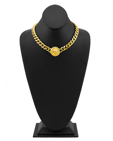 Lions Head Medallion Choker