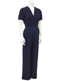 Navy Blue Couture Jumpsuit