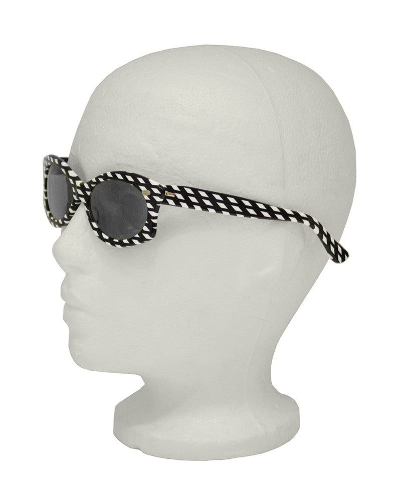 Black and White Op Art Sunglasses