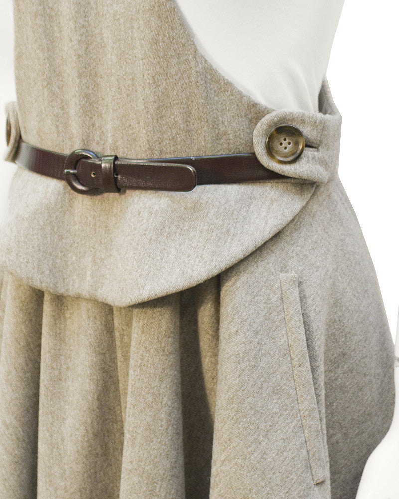 Beige wool 'lollipop' dress