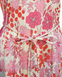 Pink Printed Cotton Floral Day Dress