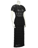 Black Guipure Lace Skirt and Top Set