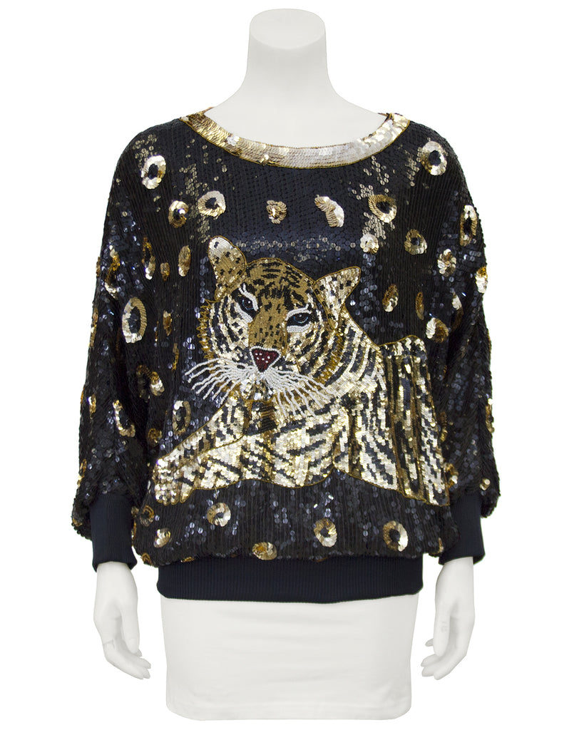 Tiger Sequin Top