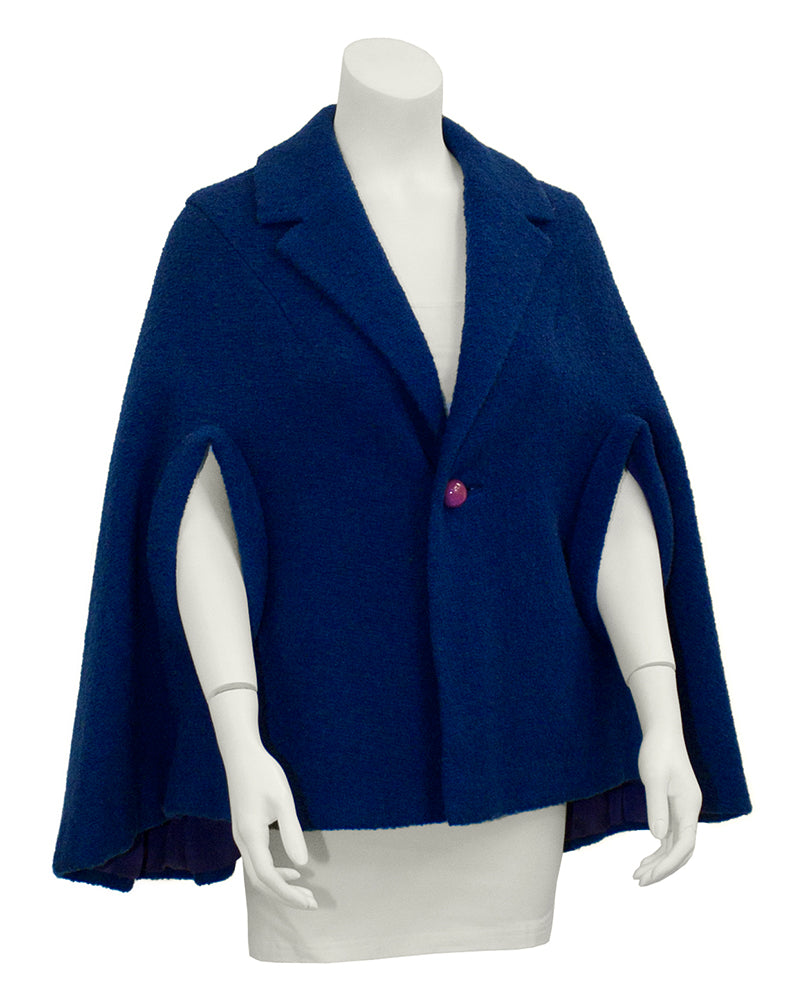 Blue Wool Cape