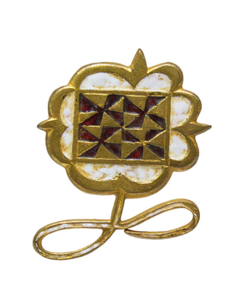 Gilded Bronze Wearable Art Flower Pin