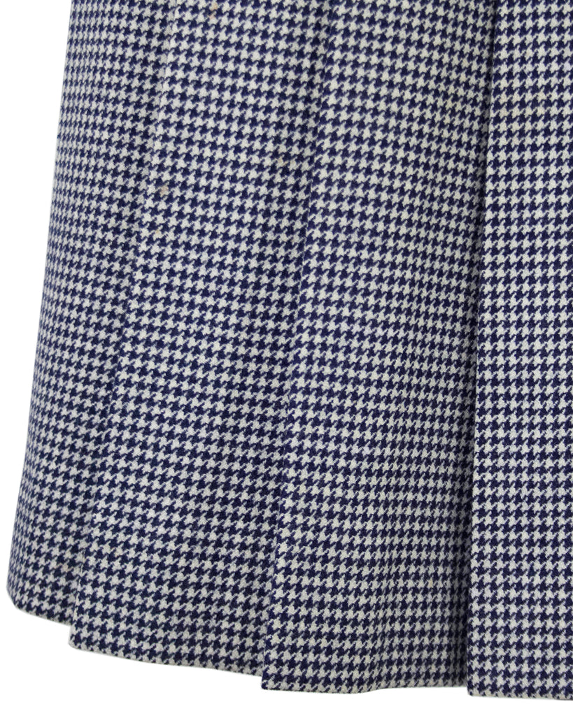Navy Houndstooth Skirt