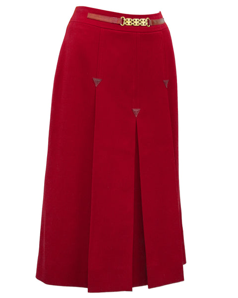 Red Wool Skirt