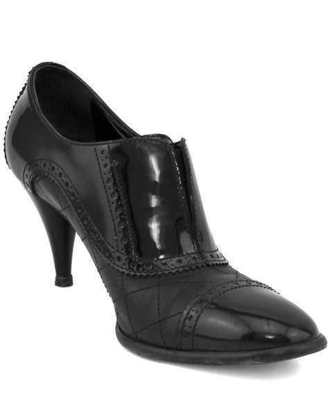 Black Brogue Pumps