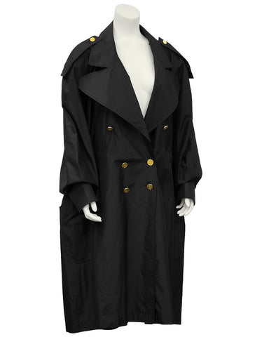 Black Oversized Trench Coat