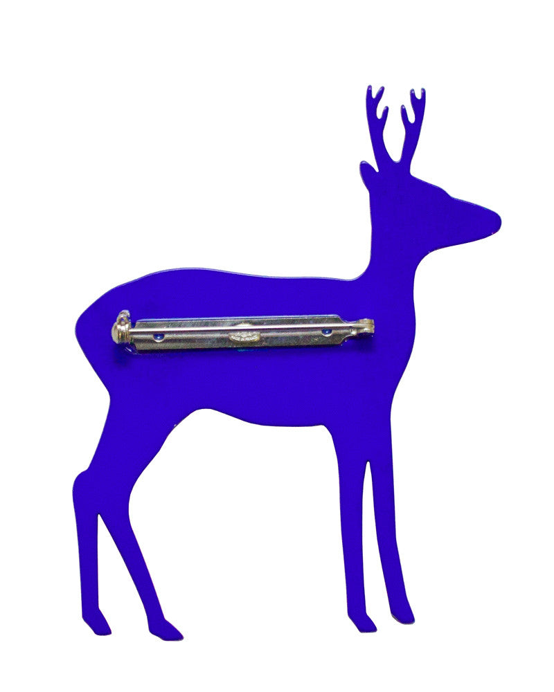 Blue Reindeer Pin