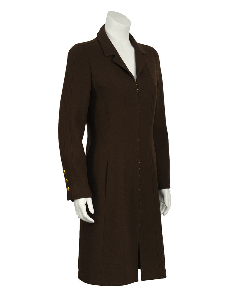 Brown Wool Coat Dress