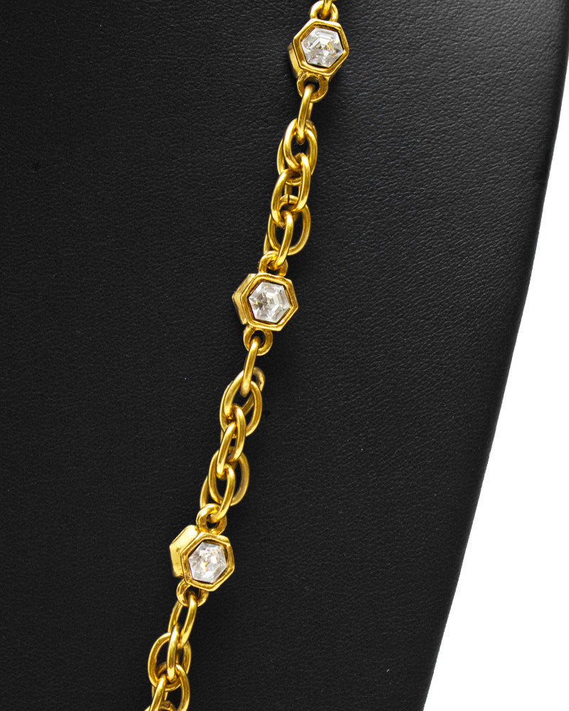 Chain Necklace with CC Pendant