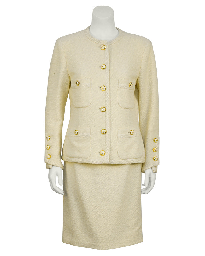Cream Wool Suit