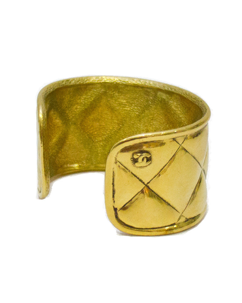 Gold Quilted Cuff