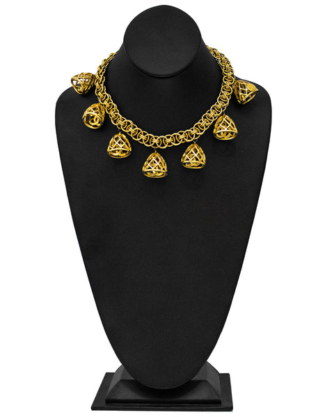0d5dc478f93 Gold Tone Necklace with CC logo bells