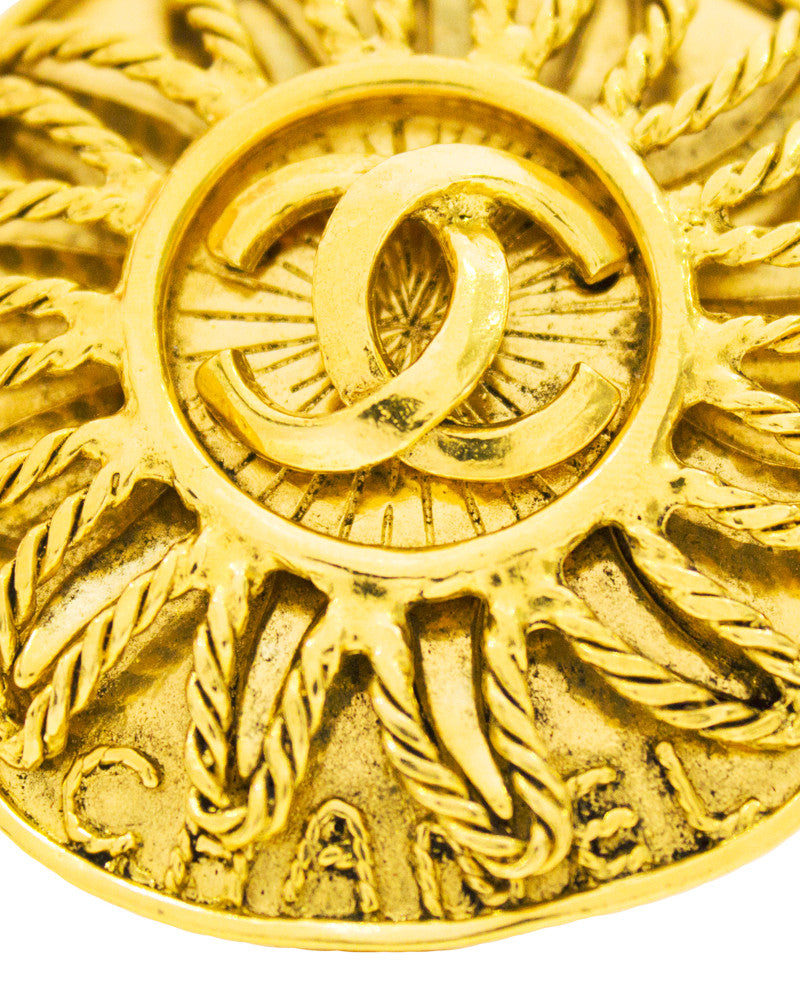 Gold CC sun pin