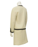 Cream Boucle Two Piece Skirt Suit