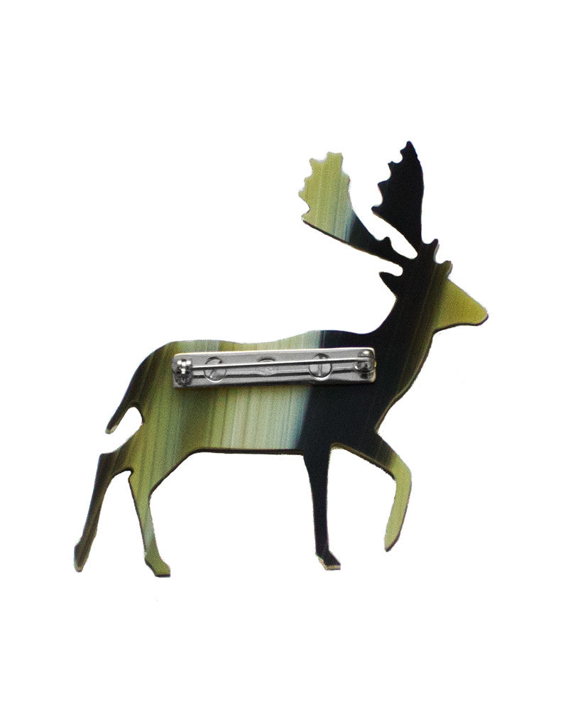 Yellow and Brown Reindeer Pin