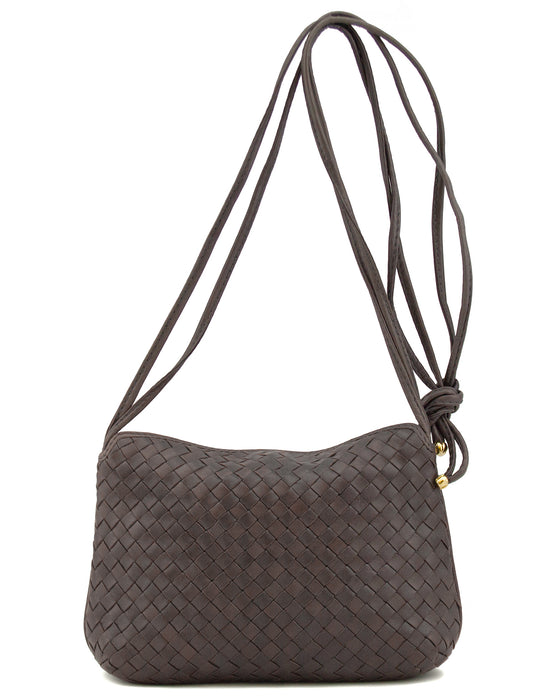 Brown Woven Leather Bag