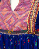 Multi Color Ethnic Embroidered Smock Dress