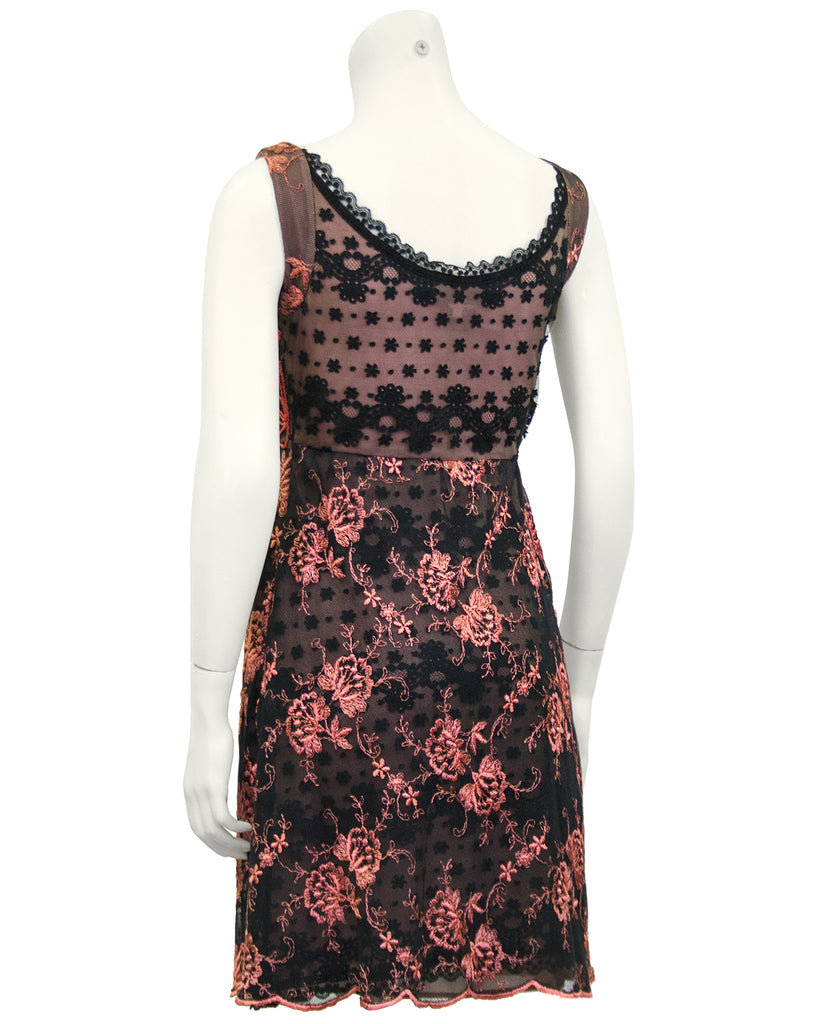 Pink and Black Lace Cocktail dress