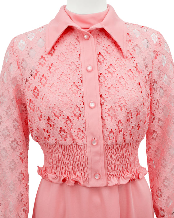 Pink Halter Day Gown and Jacket Ensemble