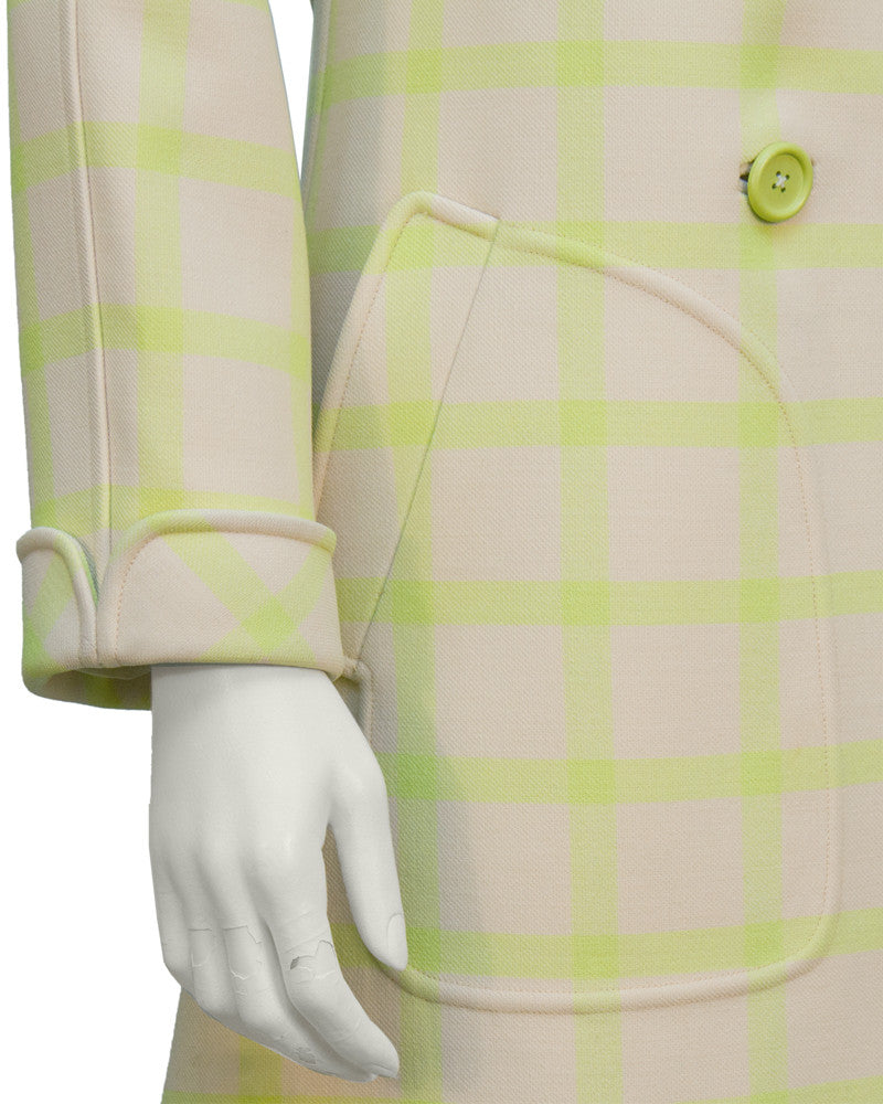 Beige and Lime Green Coat