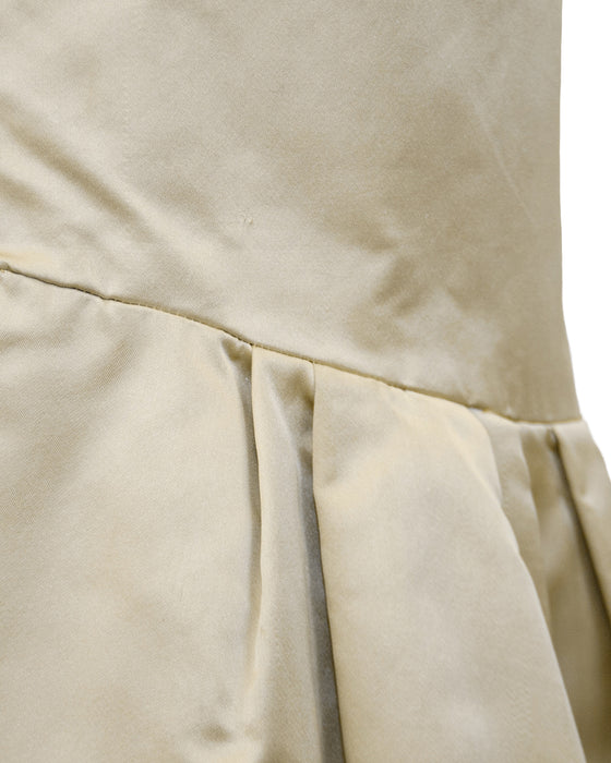 Beige Satin Evening Coat