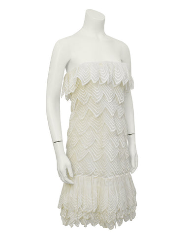 Cream Scalloped Haute Couture Dress