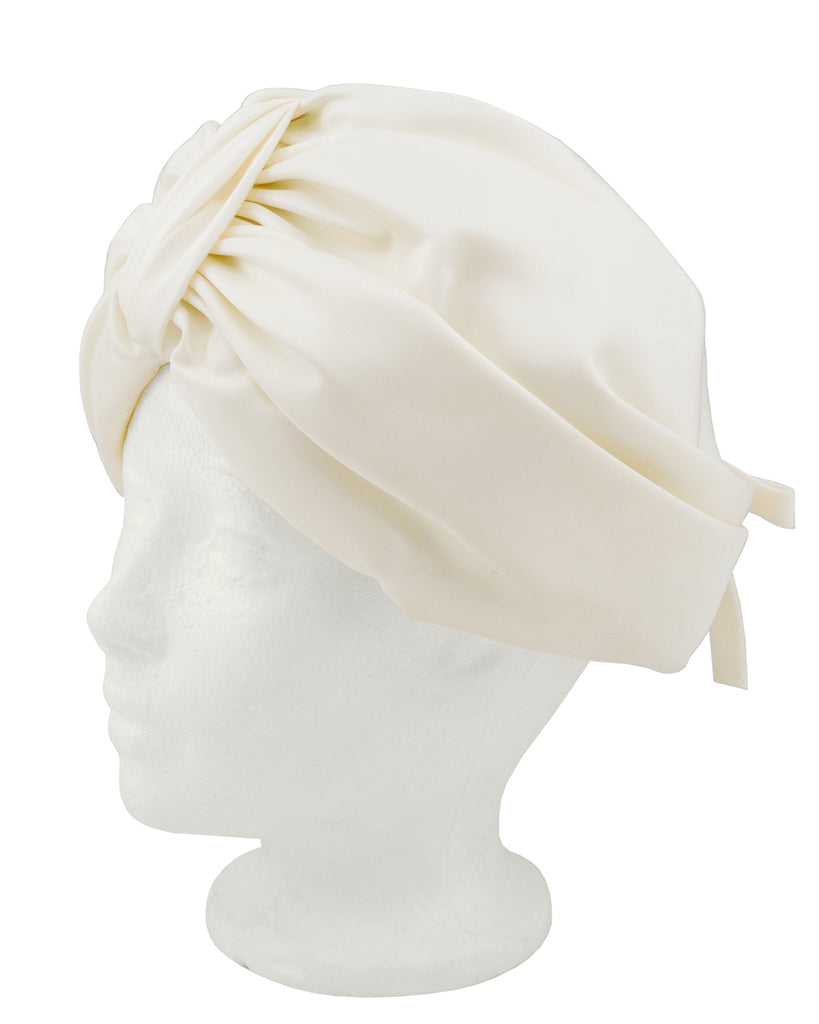 Cream Silk Turban