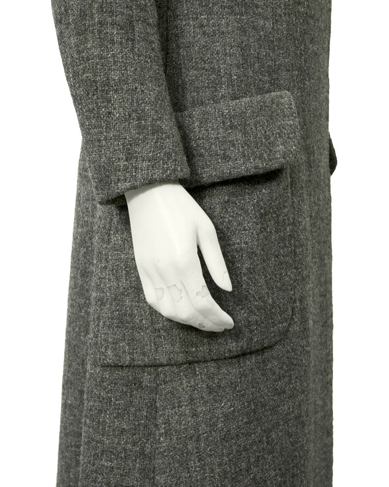 Grey Wool Long coat