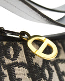 Black and Cream Monogram Shoulder Bag