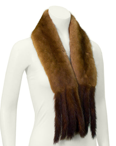 Brown Mink scarf