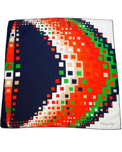 Modernist Geometric Silk Scarf