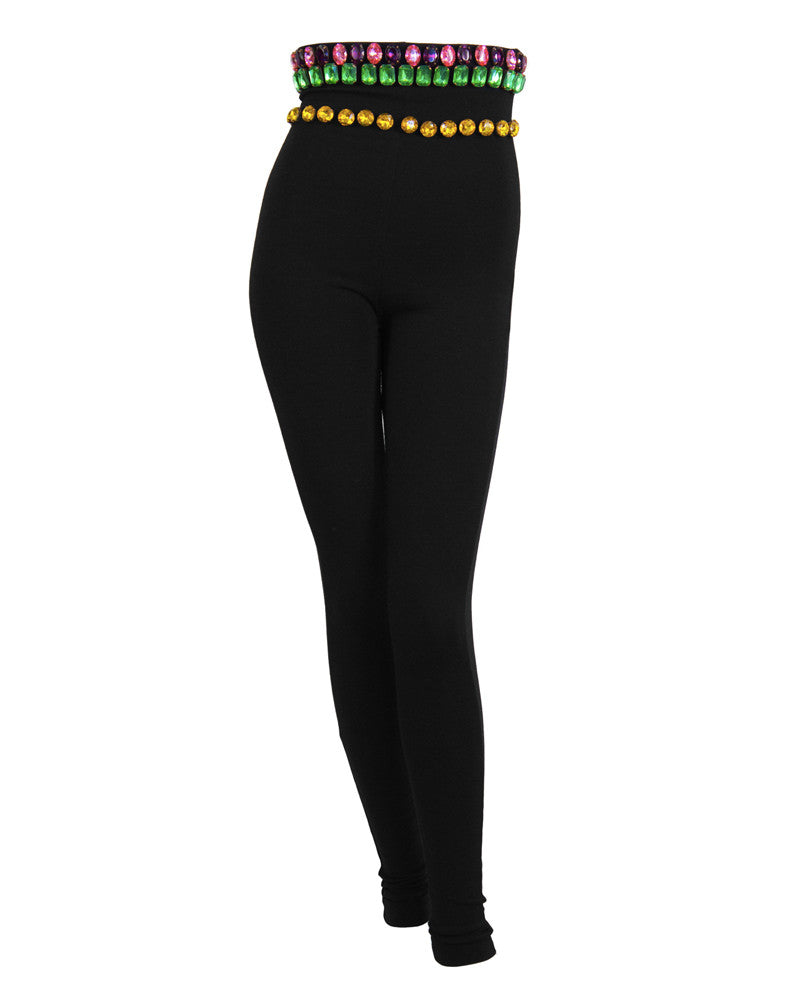 Black Jeweled Leggings