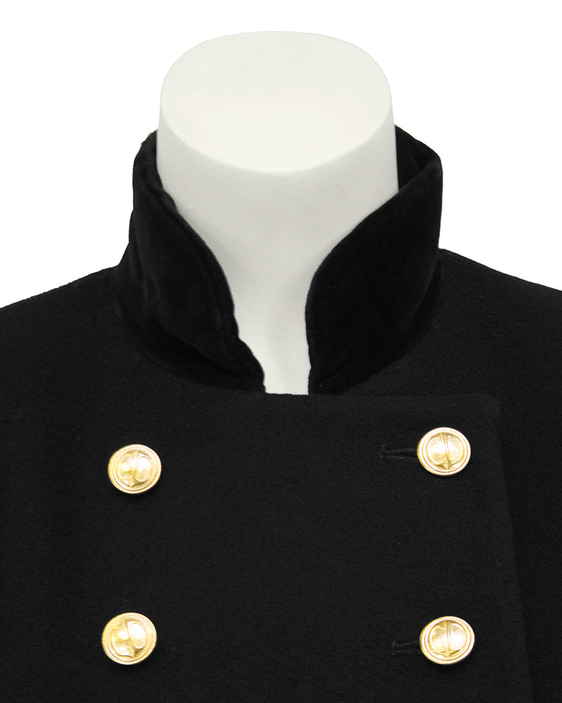 Black Military Style Coat