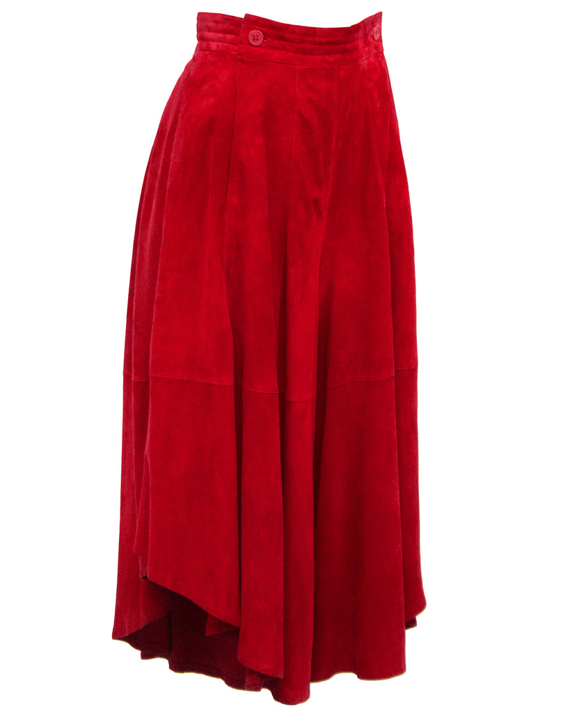 Red Suede Culottes