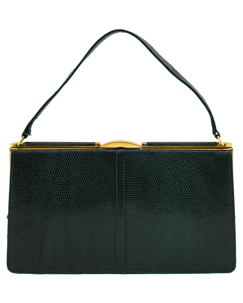 Green Lizard Skin Bag