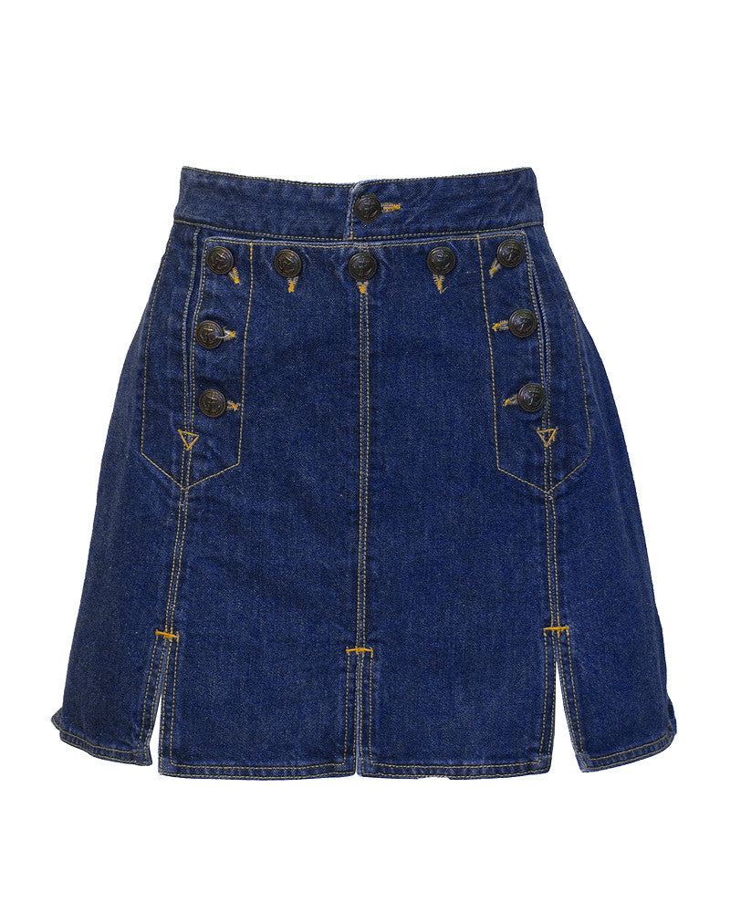 Denim Bib and Mini Skirt