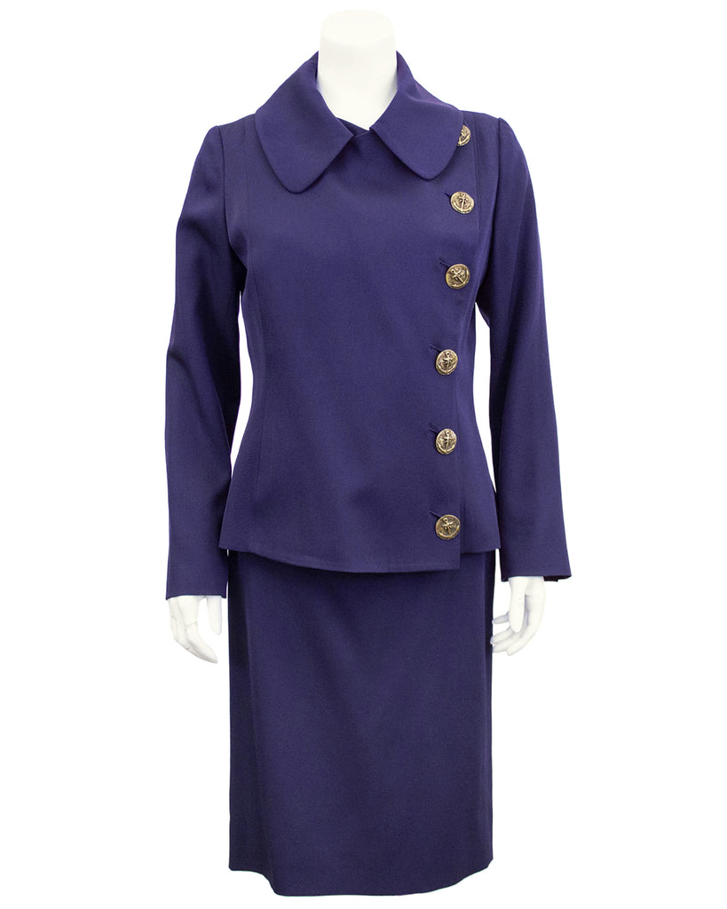Purple Skirt Suit
