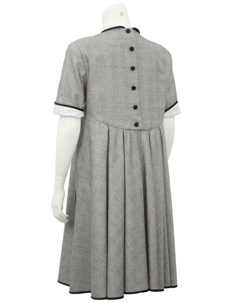Grey Glen Check Swing Dress