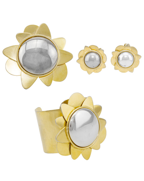Earring, Brooch and Cuff Set