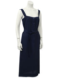 Navy Blue Day Dress