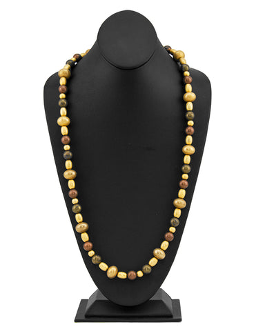 Bronze and Gold Beaded Necklace